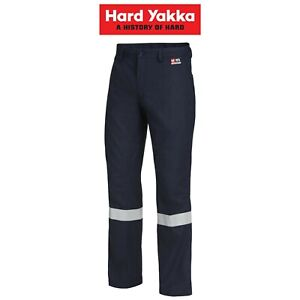 Mens-Hard-Yakka-Workwear-Pants-Sheildtec-Fire-Resistant-Taped-Work-Safety-Y02425