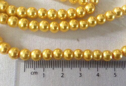 Vendeur Britannique * Jaune Perles 5 mm X25 Pour Fabrication De Bijoux Et Artisanat