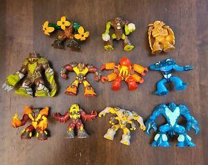 Giochi Preziosi Gormiti Figures Lot of 9 Different Gold Loose