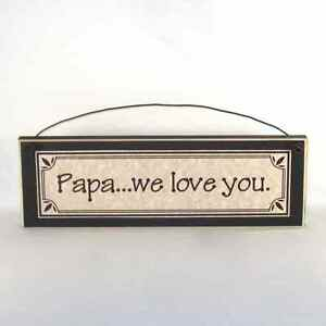 Papa-we-love-you-Father-039-s-Day-gifts-signs-amp-plaques-Gift-Ideas-for-Dad