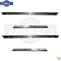 66-67 Chevy Ii Nova Interior Rear Quarter Panel Chrome Molding Stainless Trim Pr