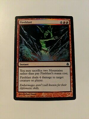 Foil new MTG Fire /& Lightning Magic Fireblast