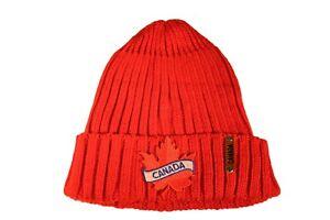 CANADA LEAF Shape Patch  Warm BEANIE TOQUE HAT..New