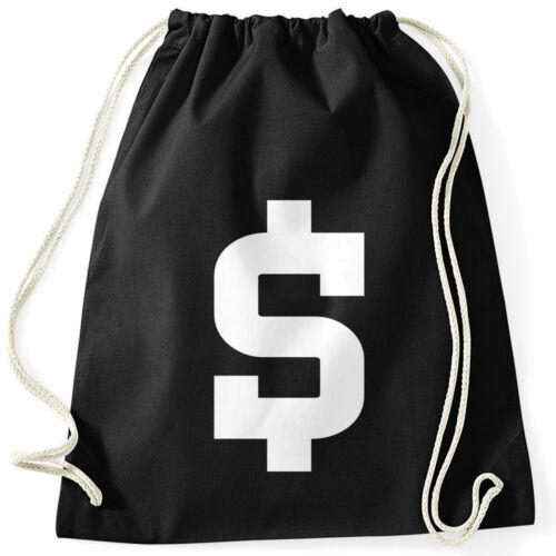 Turnbeutel Dollar Zeichen Symbol  Geldsack Money Bag Moonworks®