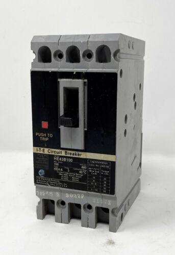 Siemens ITE 100A 480V 3 phase 3 pole Circuit Breaker HE43B100 100 Amp 480 Volt