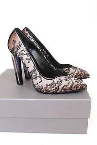 ALEXANDER-MCQUEEN-Perspex-Heel-Floral-Lace-Satin-Pumps-Heels-38-uk-5