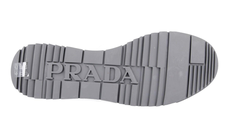 LUXUS PRADA SNEAKER 10 SCHUHE 4E2719 WEISS NEU NEW 10 SNEAKER 44 44,5 2d7d73