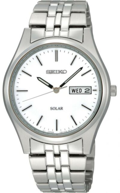 Seiko Gents Solar Stainless Steel Watch SNE031P1 NEW