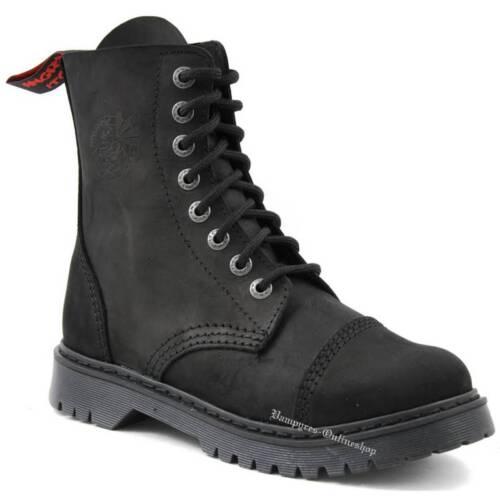 Rangers Stiefel loch Angry Boots Black Schuhe 8 Schwarz Vintage Light Itch Leder 1W8YZT8qR