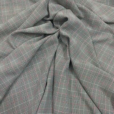 Tartan Check  Brushed Polyviscose Fabric 150cm Wide Ideal For Skirts And Dresses