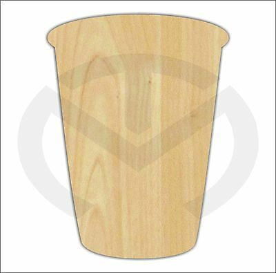 Unfinished Wood Solo Cup Laser Cutout Paint Ready Wreath Accent Door Hanger