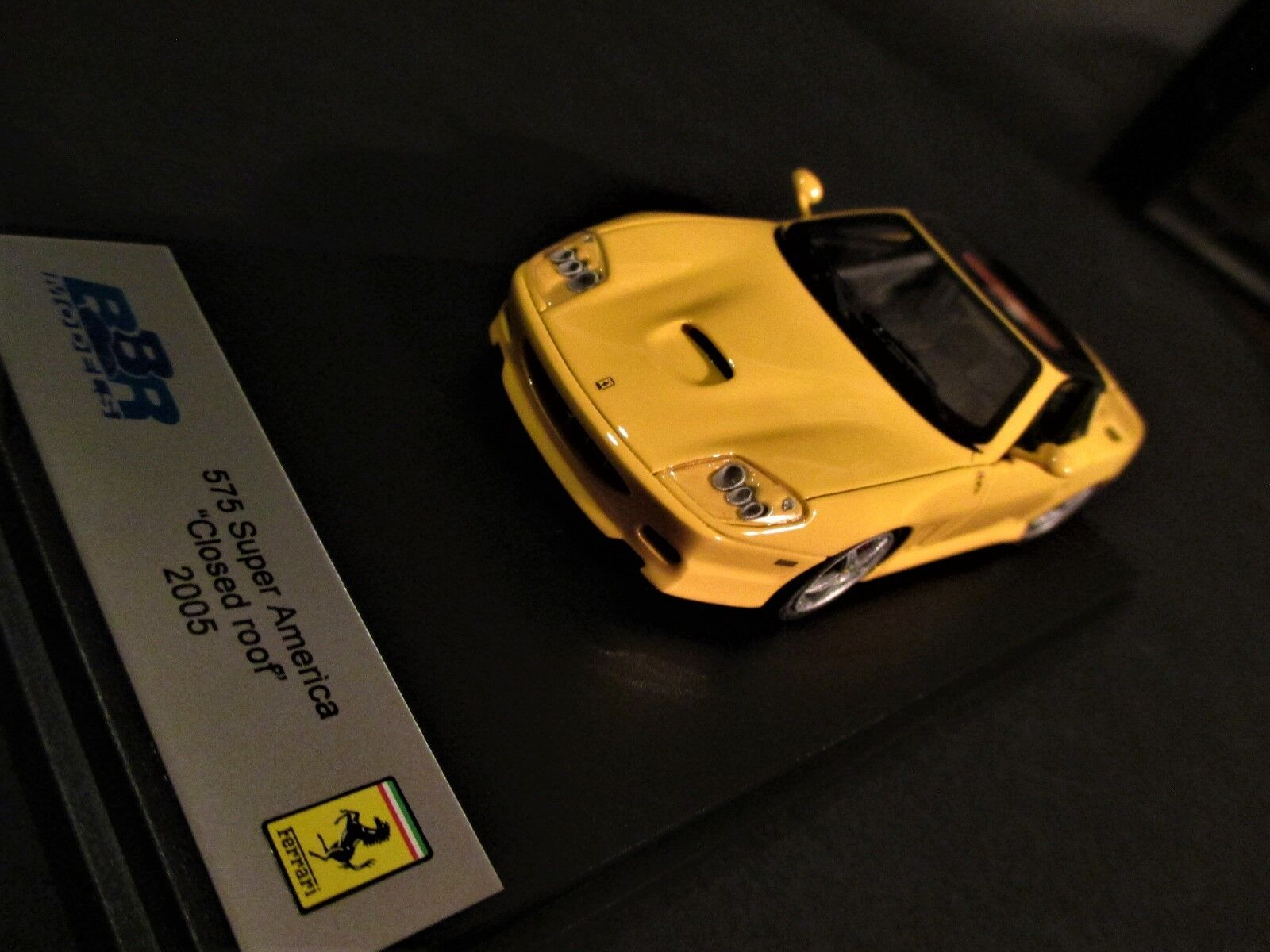 RARE FERRARI 575 SUPERAMERICA ROOF CLOSED giallo GIALLO MODENA BBR 1 43 BBR166B