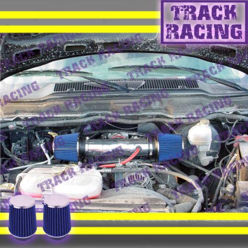 DUAL 04-11 DODGE DAKOTA//DURANGO//RAM//NITRO 3.7L V6 TWIN AIR INTAKE KIT Red Blue