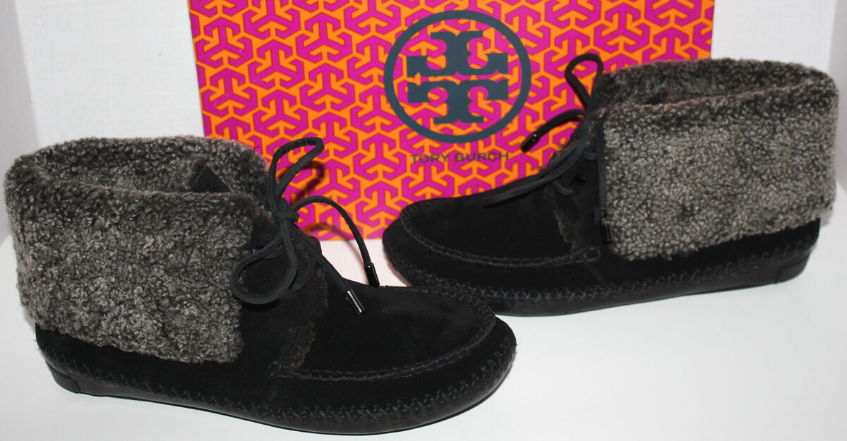 NIB Nordstrom Womens Tory Burch Black Nathan Flat Bootie Shoes Size 7