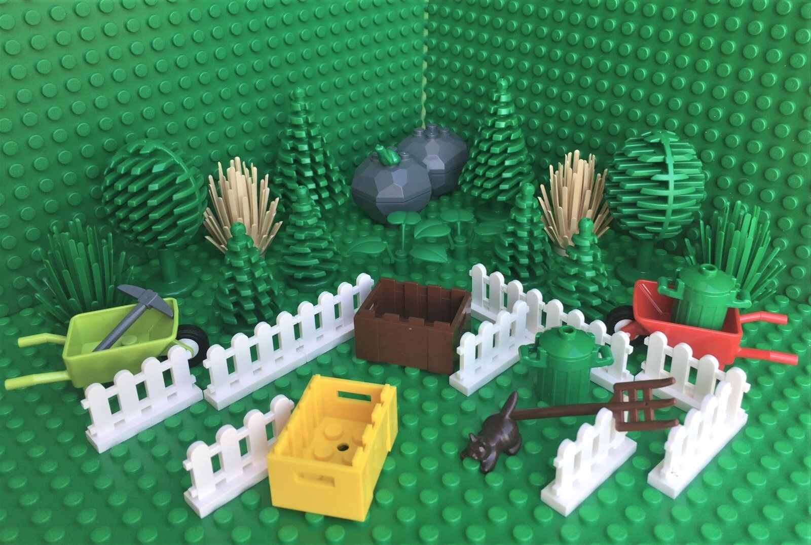 Lego Park Spares TREES Fances Crates hjul Barrow City Town Forest Harry krukmakare