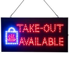 Led Neon Take Out Available Sign For Restaurants By Ultima Led 19 X 10 In