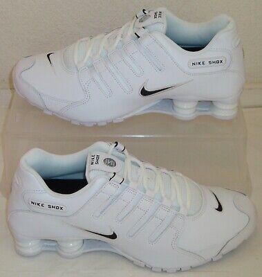 New Nike Shoes Shox NZ EU White Black Mens US Size 8 UK 7 EUR 41 CM 26  823229429861   eBay