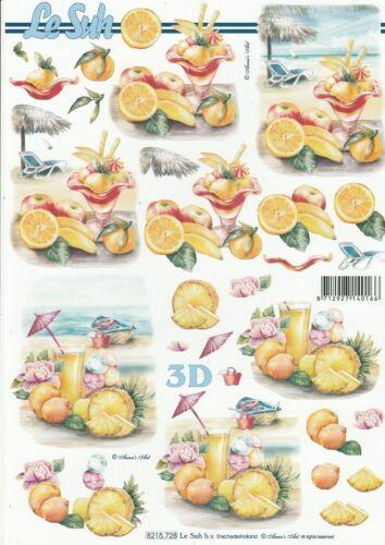 Decoupage Sheet Drink Feuille 3D à découper A4-8215.728 Cocktail