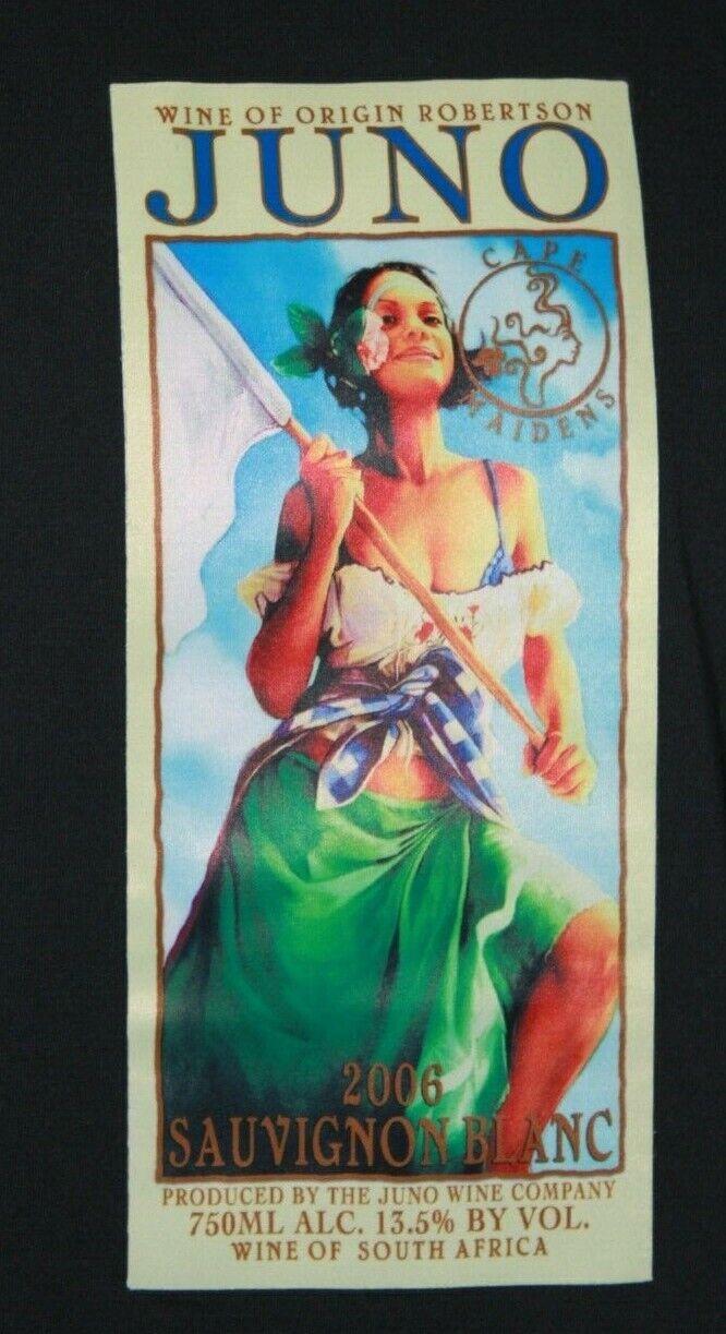 340461fb29b RARE Juno Wine Company Africa short sleeve Sauvignon white graphic South T- Shirt ntyyam3218-T-Shirts