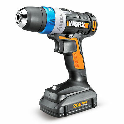 WORX WX178L 20V Maxlithium Powershare Advanced Intelligence LED Cordless Drill