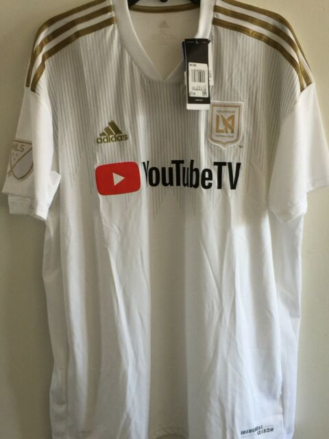 adidas Lafc Away Replica Jersey Mens XL White Gold Ce3281 With ...