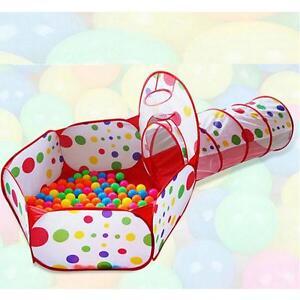 2 In 1 Play Station Kids Pit Balls Pool Crawl Tunnel Ocean Balls Playhut Pop L20