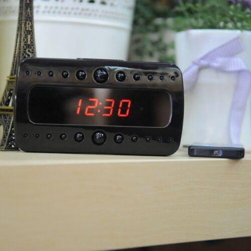 Top HD1080P SPY Hidden Camera Desk Clock IR Night Vision Motion Detection DVR DV