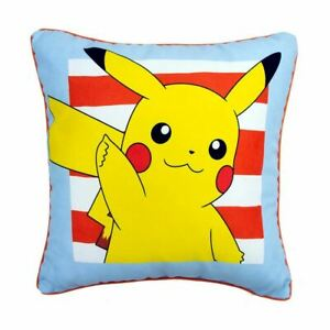 Pokemon-Jump-Coussin-Carre-Double-Face-Design-Pikachu-Oreiller