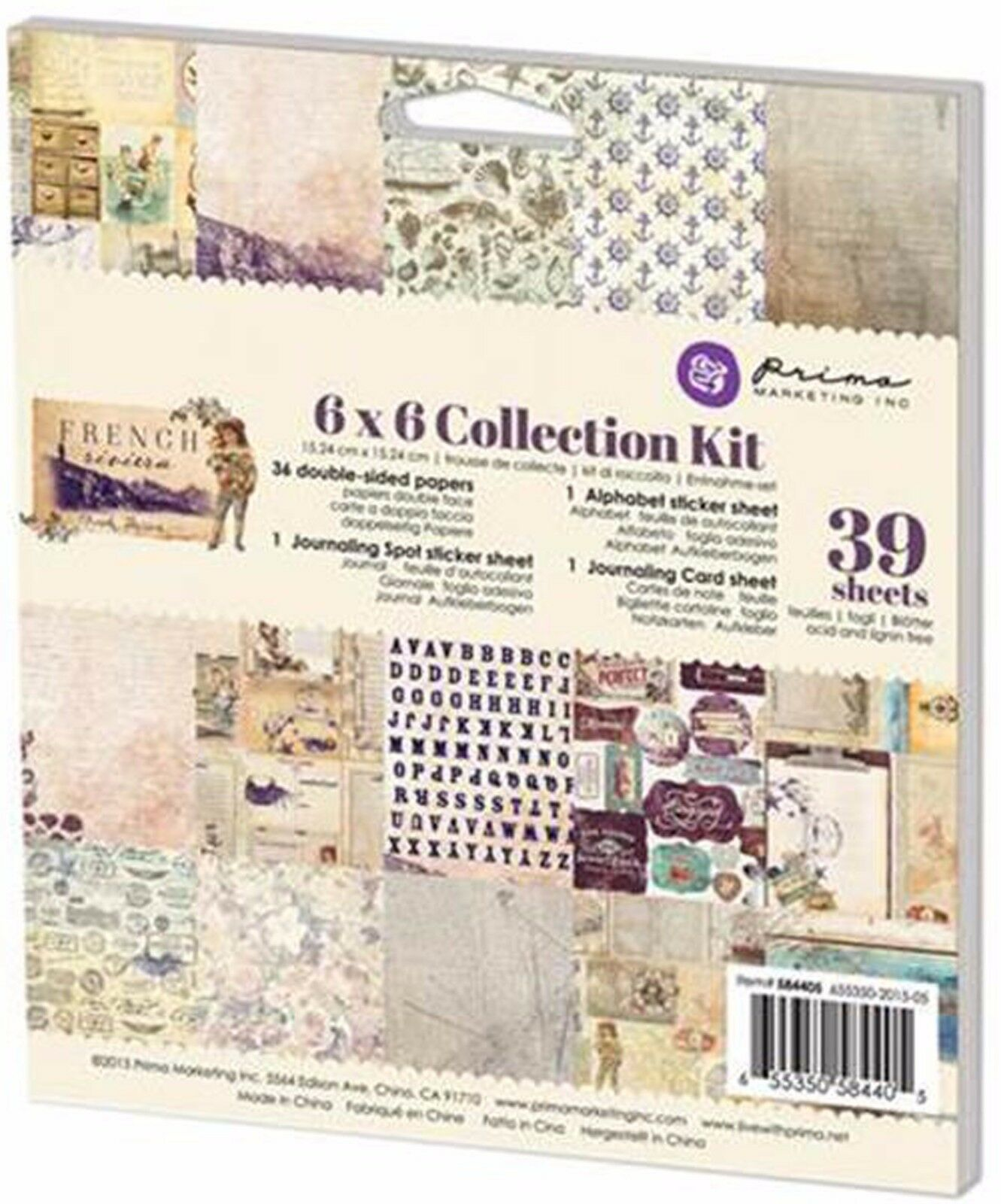 Wild /& Free Collection Kit Scrapbooking 6x6 in Paper Pad PRIMA 992293 NEW