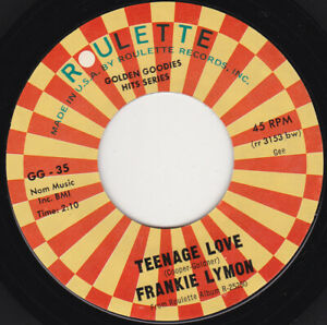 FRANKIE-LYMON-amp-THE-TEENAGERS-Teenage-Love-7-034-45