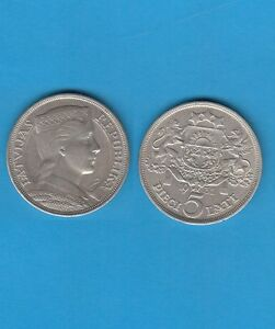 Gertbrolen-Lettonie-5-Lati-argent-1931-Silver-Coin