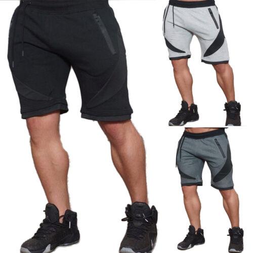 Herren Bermuda Jogginghose Training Fitness Hosen Sport Sommer Freizeithose Gym