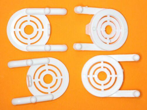 White Plastic Peg board Multi-Purpose Tool Holder 50 Pk PEGBOARD NOT INCLUDED