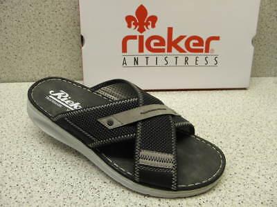 rieker ® Sale reduziert Top Pantolette schwarz modisch (R478 Agrf7