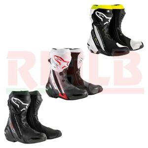 ultimi progetti diversificati grande sconto di vendita nuovo stile Dettagli su Stivali Moto Racing Sportivo Alpinestars SUPERTECH R Boot con  Protezioni