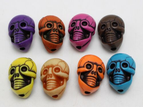 Craft DIY Mixed Color Large Halloween Gothic Skull Acrylic Beads Various Shape