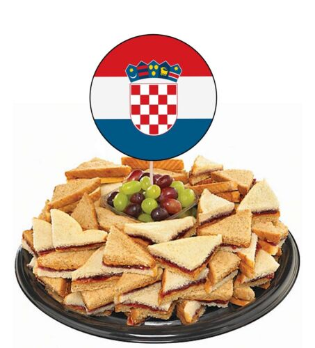 Kroatien Flaggen Party Essen Cup Cakes Auswahl Dekorationen Toppers