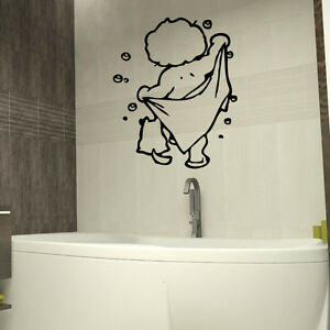 Image Is Loading Shower Room Kids Wall Stickers Art Bathroom Removable