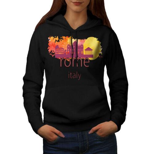 Wellcoda Rome View Womens Hoodie Tourism Casual Hooded Sweatshirt