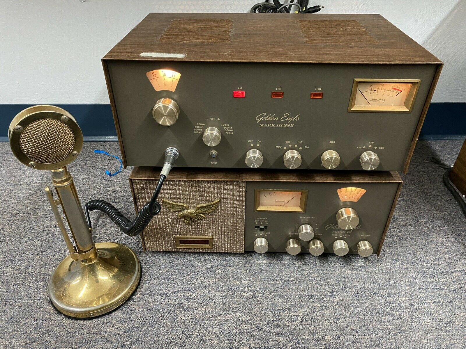 Browning Golden Eagle Mark III CB AM/SSB Pair With Original Microphone - Tested. Buy it now for 975.00