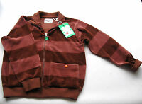 Nicki Jacke Gr.140 Green Cotton NEU 100% Bio Baumwolle braun velour kinder ssv