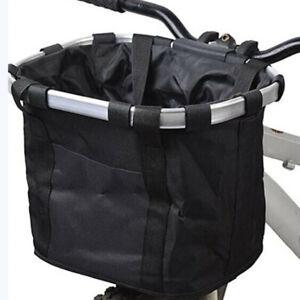 Bicycle-Bike-Detachable-Cycle-Front-Canvas-Basket-Carrier-Bag-Pet-Carrier