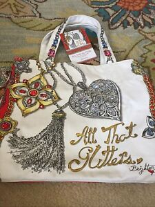 """NEW """"All That Glitters"""" BRIGHTON Limited Edition Holiday Shopping Tote Bag NWT"""