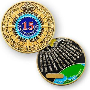 15 Years Of Geocaching Geocoin Coins And Pins Version Ebay