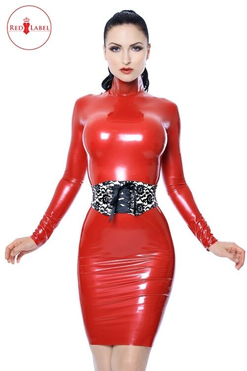 R1523 KITTYLUX Latex Rubber TOP rot LABEL- 3 fantastic colours WESTWARD BOUND