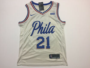 size 40 1083c b2735 Details about Joel Embiid #21 Philadelphia 76ers Men's White Jersey - Brand  New