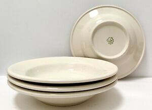 Vtg-Buffalo-China-Cereal-Soup-Bowls-Off-White-Restaurant-Ware-Farmhouse-Diner