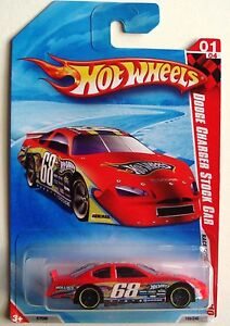 Hot Wheels 10 Race World Speedway Dodge Charger Stock Car 01 04 Red