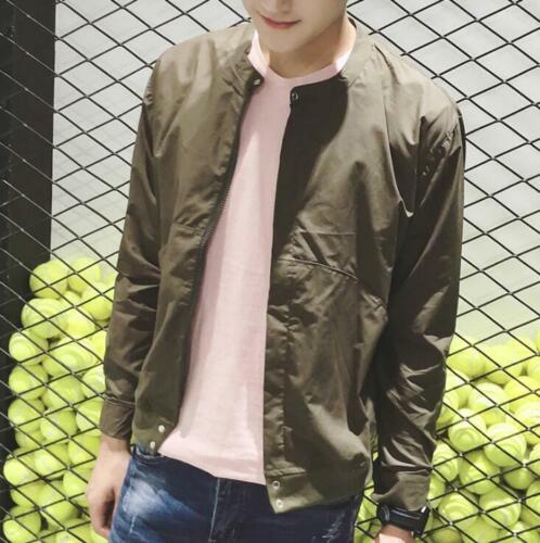 Fashion Men jackets casual jacket coats collar Slim Short thin coat outwear Tops