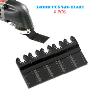 5PCS-34mm-acier-carbone-Lame-de-scie-oscillante-Multifonction-outil